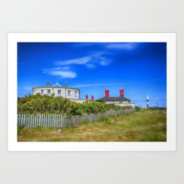 Dungeness Lighthouse Quarters Art Print