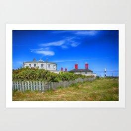 Dungeness Lighthouse Quarters Art Print