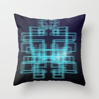 80s Throw Pillows featuring 80s style by Six Pixel Design