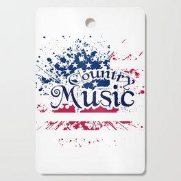 Fan Country Music American Flag Cutting Board
