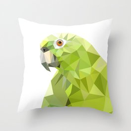 Parrot art Southern mealy amazon parrot Throw Pillow