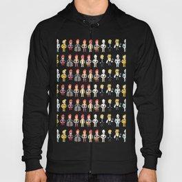 Bowie pixel characters Hoody