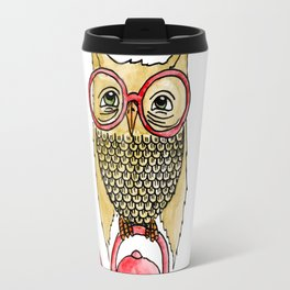 Owl Start the Kettle Travel Mug