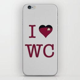 I Heart Wesley Crusher iPhone Skin