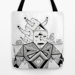 birdhouse head Tote Bag
