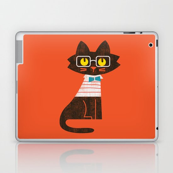 Fitz - Preppy cat Laptop & iPad Skin