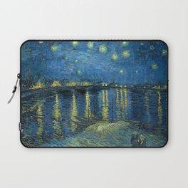 Starry Night Over the Rhône by Vincent van Gogh Laptop Sleeve