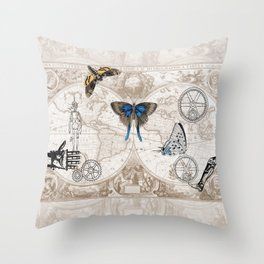 The New Steampunks Throw Pillow