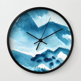 Mountain blue Wall Clock