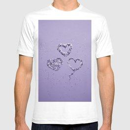 Ultra Violet LOVE Glitter Hearts #1 #shiny #decor #art #society6 T-shirt