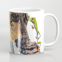climbing Mugs featuring Climbing by Lerson