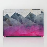 concrete iPad Cases featuring Pink Concrete by cafelab