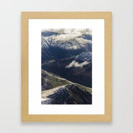 Lochy River, New Zealand Framed Art Print