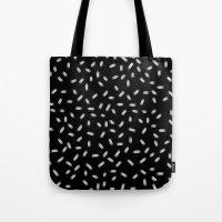 sprinkles Tote Bags featuring Sprinkles by lazybones
