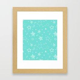 Star Doodles Framed Art Print