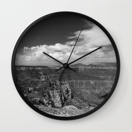 North_Rim Grand_Canyon, AZ - B&W I Wall Clock