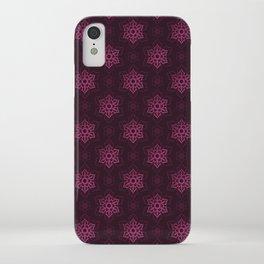 Festive Pink Snowflake Pattern iPhone Case
