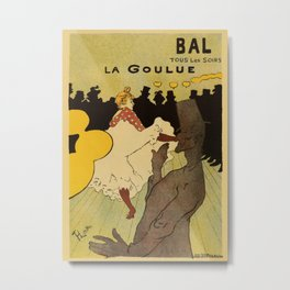 Paris nightlife 1891 Toulouse Lautrec Metal Print