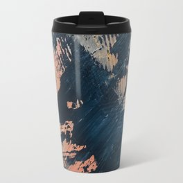 Hidden Gem [3]: an abstract mixed media piece in pink, blue, gold and white Travel Mug