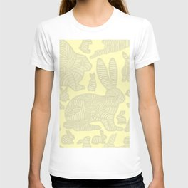bunnies in lines T-shirt