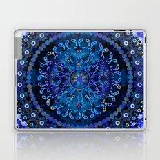Blue Mosaic Mandala Laptop & iPad Skin