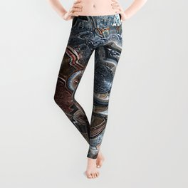 Abstract Coins Leggings