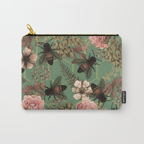 Bees Pattern Carry-All Pouch