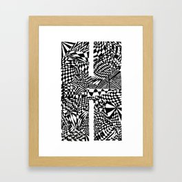 Alphabet Letter H Impact Bold Abstract Pattern (ink drawing) Framed Art Print