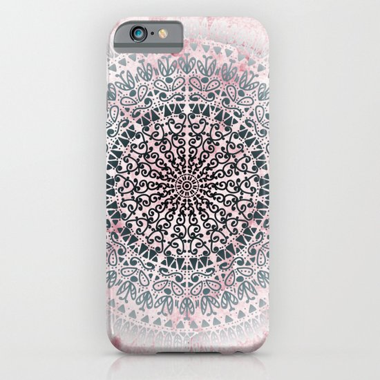 ICELAND MANDALA IN PINK iPhone & iPod Case
