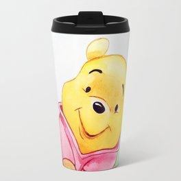 Winnie the Pooh, watercolor Travel Mug