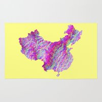 china Area & Throw Rugs featuring China by mthbt