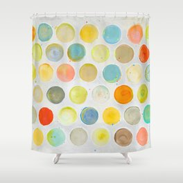 Happy Dots 01 Shower Curtain