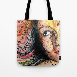 Rainbow World Girl Society Remix Tote Bag
