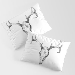 Deer Skull in Pencil Pillow Sham