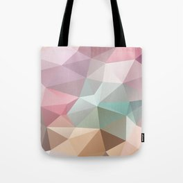 Abstract triangles polygonal pattern Tote Bag
