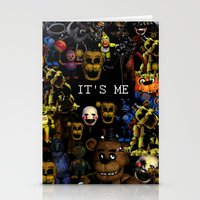 fnaf Stationery Cards featuring FNAF Cluster Design by artistathenawhite