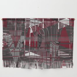 Land of Red Wall Hanging