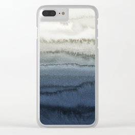 WITHIN THE TIDES - CRUSHING WAVES BLUE Clear iPhone Case