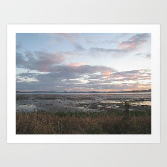 low tide. Art Print