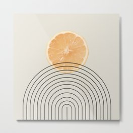 #09#Lemon sun landscape Metal Print