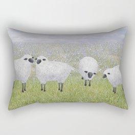 sheep and chicory Rectangular Pillow