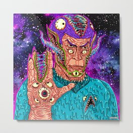 Monster Alien Metal Print