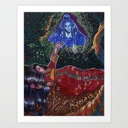 Botan Hime Art Print