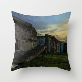 Remains on the Beach Throw Pillow