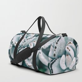 Blue soft and delicate cactus Duffle Bag
