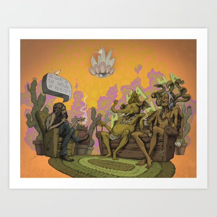 So What is the Nature of Reality? Art Print