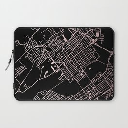 Wilkes-Barre Rose Gold and White Map Laptop Sleeve