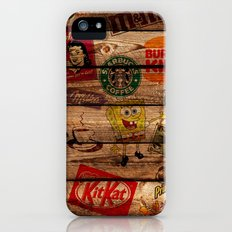 Wooden wall of Brands Slim Case iPhone (5, 5s)
