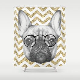 Glitter and Glasses Shower Curtain