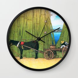 Kawase Hasui - Komagata Riverbank, The Series Twelve Scenes Of Tokyo - Digital Remastered Edition Wall Clock
